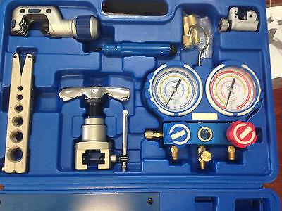 AIR CONDITIONER MANIFOLD GAUGE R410 R22 R134 FLARING TOOL SET KIT  VTB-5B-III