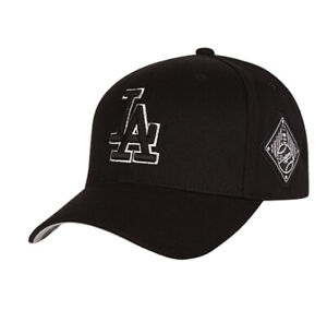 Details about New LA Dodgers Adjustable Cap MLB Korea Raised Embroidery  Black Hat