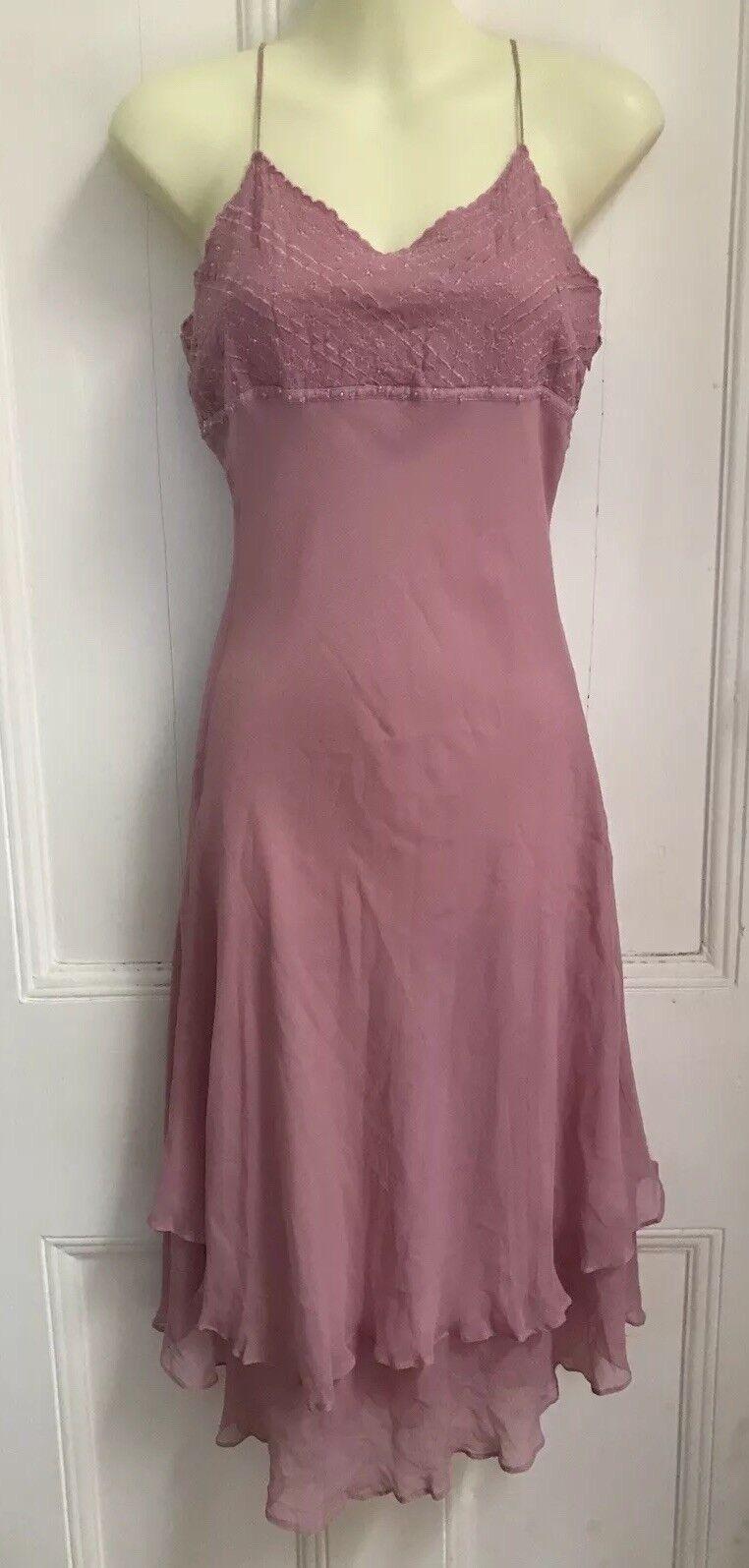 MARNI Silk Dress Embroidered Bids Size Italian Small 38 RRP Gatsby 1920