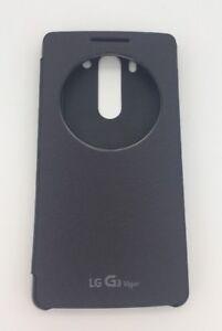 watch 9d8b7 d1c82 Details about Genuine OEM Smart Quick Circle Window Flip Folio Case for LG  G3 Vigor Black