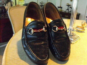 bcfc178519f Image is loading Vintage-Classic-GUCCI-Black-Calfskin-Silver-Horse-Bit-