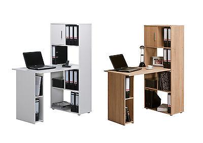 Bürokombination Schreibtisch Aktenregal Regal Mod.T121 Buche Weiß Sonoma Eich