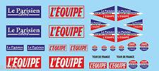 TOUR DE FRANCE CYCLISTE  DECALCOMANIES LE PARISIEN - L'EQUIPE WATER SLIDES