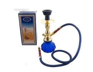narguile pipe a eau chicha petit modele eco bleu pas cher 29 cm 3745 ebay. Black Bedroom Furniture Sets. Home Design Ideas