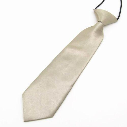 Wholesale Satin Elastic Neck Tie for Wedding Prom Boys Children School Kids Gift