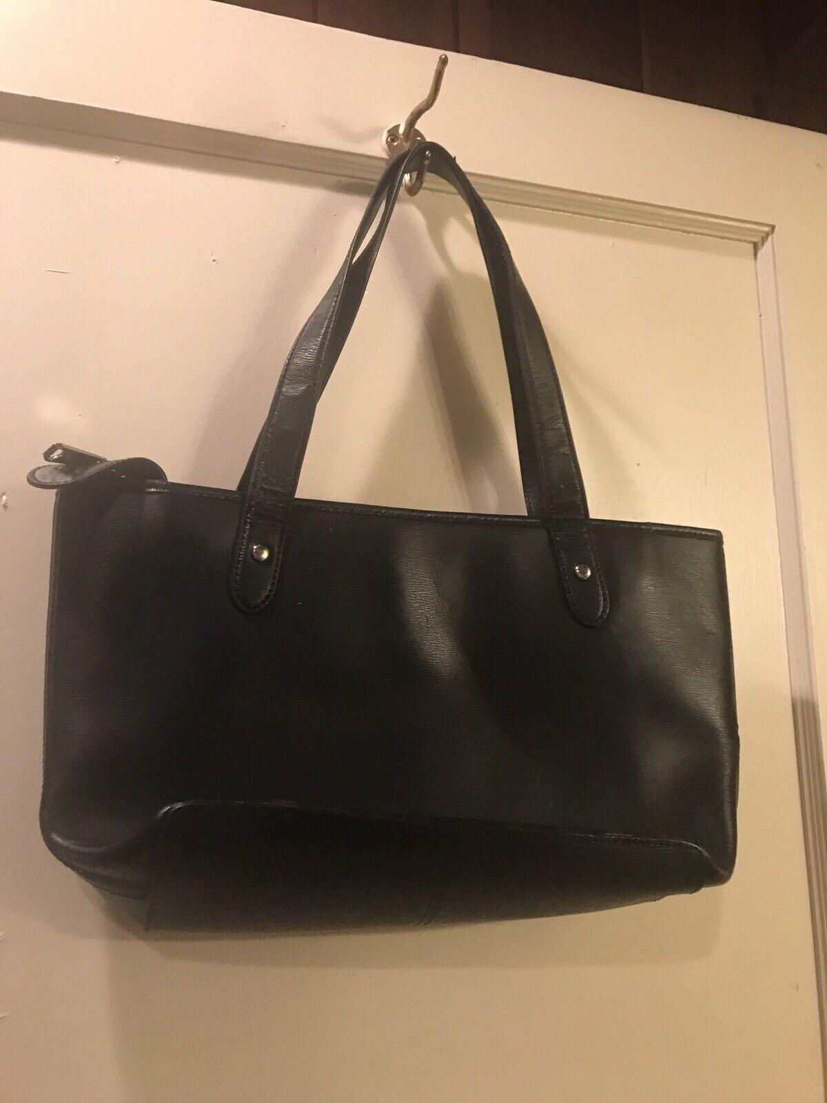 Ralph Lauren blk classic handbag - image 11