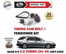 FOR SAAB 9-5 3.0 V6 TURBO 200BHP B308E 1997-2005 TIMING CAM BELT TENSIONER KIT