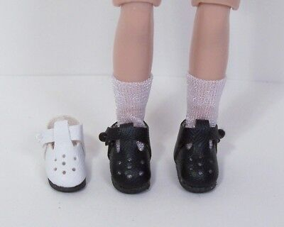 "Debs WHITE Modern T-Strap Doll Shoes For Tiny 8/"" Ann Estelle Betsy McCall"