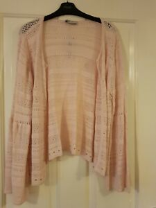 Marks Spencers Per Una Pink Flutedsleeves Edge To Edge Cardigan Famous For High Quality Raw Materials, Full Range Of Specifications And Sizes, And Great Variety Of Designs And Colors