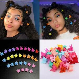 20xCute-Butterfly-Shape-Mini-Hair-Claw-Small-Clips-For-Girl-Kids-Women-Headdress