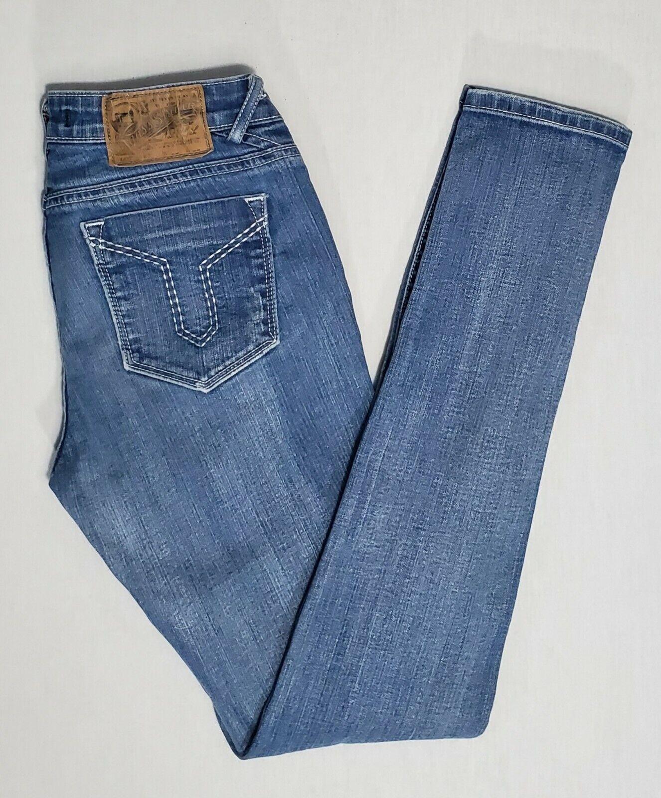 VIGOSS Girls Adjustable Waistband Skinny Jeans Dark Wash