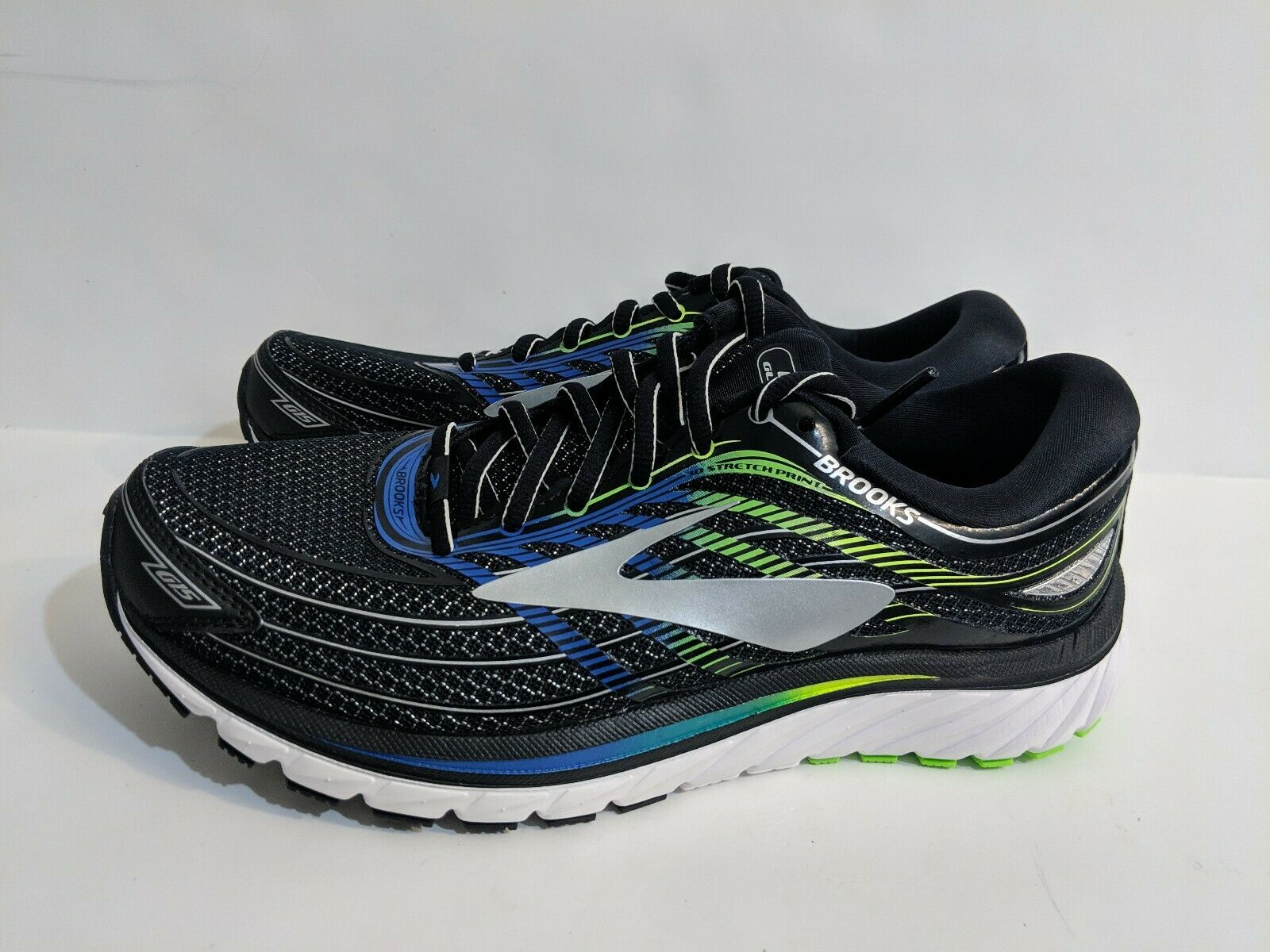 Brooks Glycerin 15 Running scarpe nero blu verde 110258-2E-012 Men's Dimensione 8