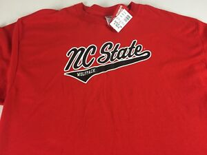 NC-State-Wolfpack-T-Shirt-Mens-L-XL-Student-Alumni-Graduate-North-Carolina-Tee
