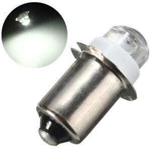 2X P13.5S 0.5W LED Upgrade Bulb Flashlight Torches Light Work Light C D Cell 3V