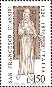 ITALIA-ITALY-1976-San-Francesco-d-039-Assisi-Stamp-MNH