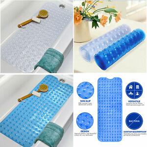 Extra Long Soft Rubber Grip Strong Suction Non-Slip Anti Fall Bath Shower Mat
