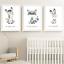 Safari-jungle-animaux-Nursery-Imprime-Set-de-3-Chambre-de-bebe-photos-Wall-Art-Decor miniature 5