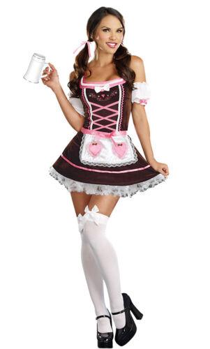 Ladies Womens Oktoberfest Bavarian Beer Drindl Tavern Maid Cosplay Costume Dress