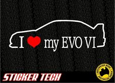 I LOVE (HEART) MY EVO VI MITSUBISHI EVOLUTION SIX 6 99 - 2000 STICKER DECAL