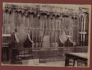 Image is loading Westminster-Abbey-Coronation-Chairs -Sword-&-Shield-antique- & Westminster Abbey Coronation Chairs Sword u0026 Shield antique ...