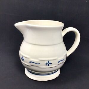 Longaberger-Roseville-Pottery-Small-Juice-Pitcher-1990-Dated-Initialed-See-Notes