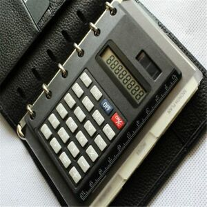 Solar-Loose-Leaf-Binder-8-Digits-with-Ruler-Calculators-Spiral-Office-Calculator