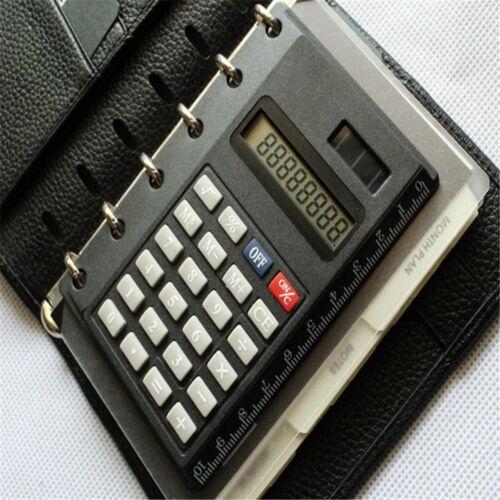 Solar Loose Leaf Binder 8 Digits with Ruler Calculators Calculator Spiral Office