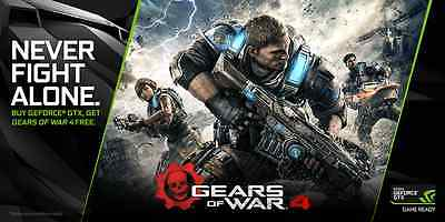Gears of War 4 - Xbox One / Windows 10 PC / Download Code (Nvidia) / NEU EU DE