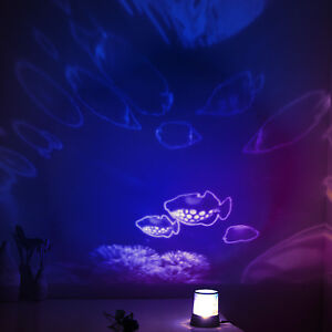 Kids Led Underwater Sea Fish World Ocean Projection Lamp
