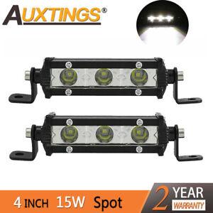 Mini Led Light Bar >> Details About 2x4inch 15w Super Mini Led Light Bar Spot Single Row Work Driving Lights 4x4 Suv