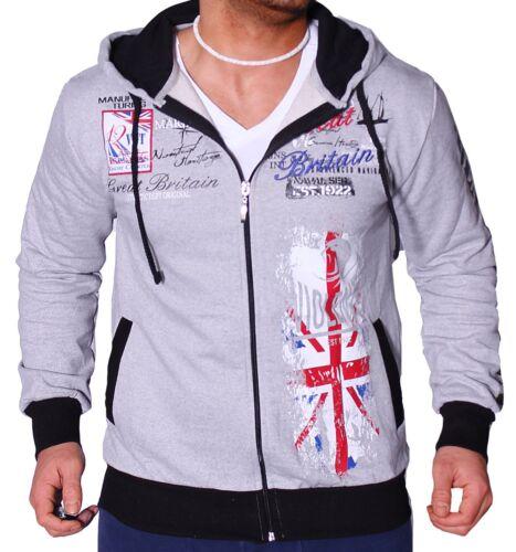 Herren Sweatjacke Jogging Jacke WM England UK Fitness Sport Zipper Hoodie RC1.9