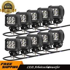 10X 18W LED Arbeitsscheinwerfer Scheinwerfer Licht Offroad für Jeep SUV 12V-24V