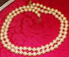 """SIGNED MIRIAM HASKELL DREAMY PEARL VTG. NECKLACE OPERA 30"""" LENGTH ,PURE CLASS"""