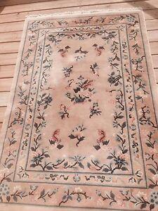 antique unique chinese art rug carpet vintage rare 190x121 cm ebay. Black Bedroom Furniture Sets. Home Design Ideas