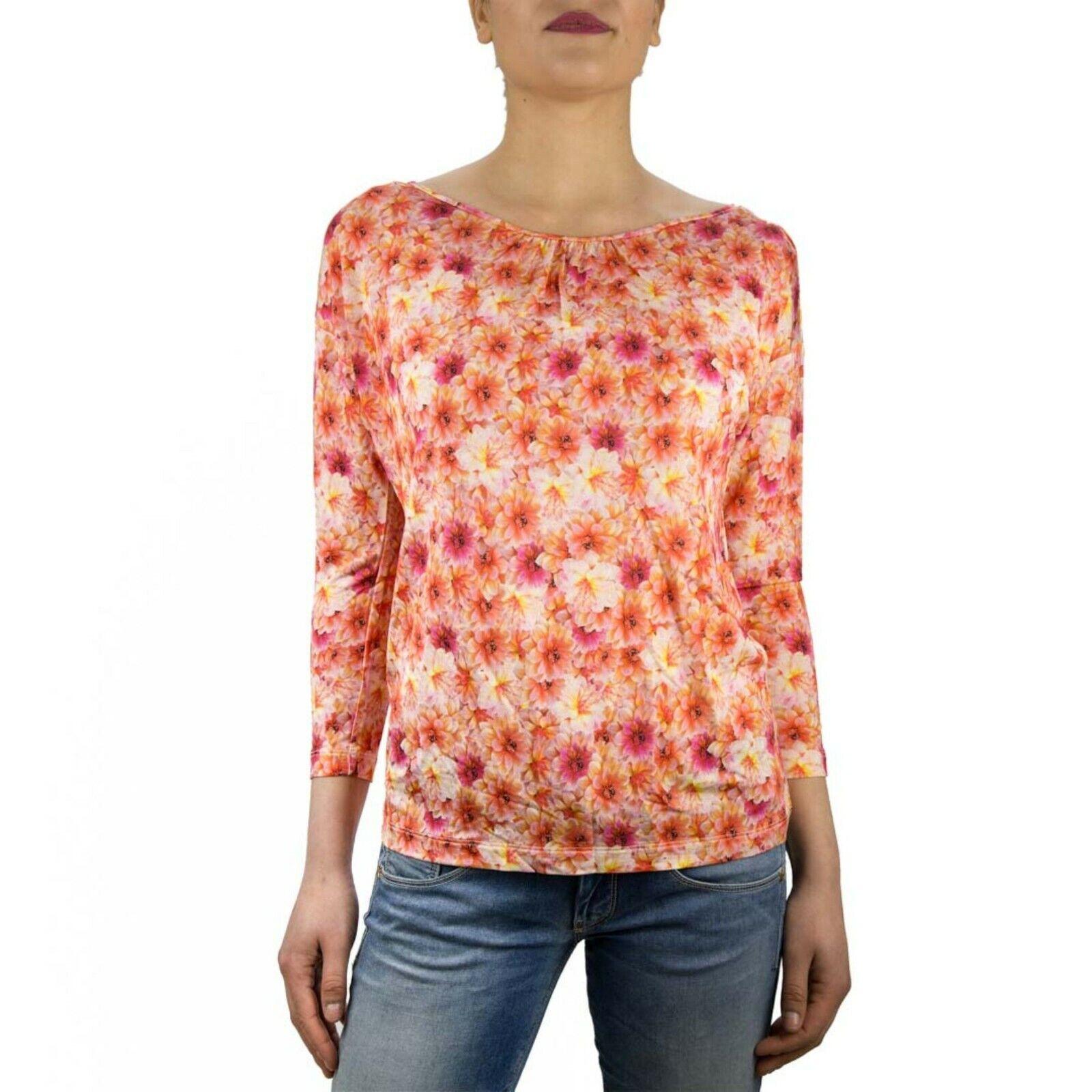 Marella Acilia Maglia T-Shirt damen Col Arancione tg S   -47 % OCCASIONE
