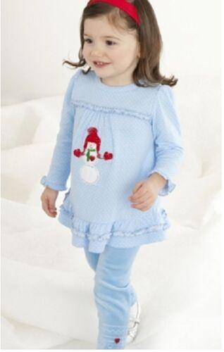 Neuf avec étiquettes le Top Holiday dot tunique /& velours leggins 2pcs Set Girl 12 M 18 M 24 M 2y 3y 4y