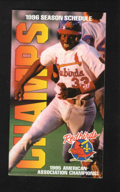 Details About Louisville Redbirds 1996 Pocket Schedule Miller Beer Cardinals Affiliate
