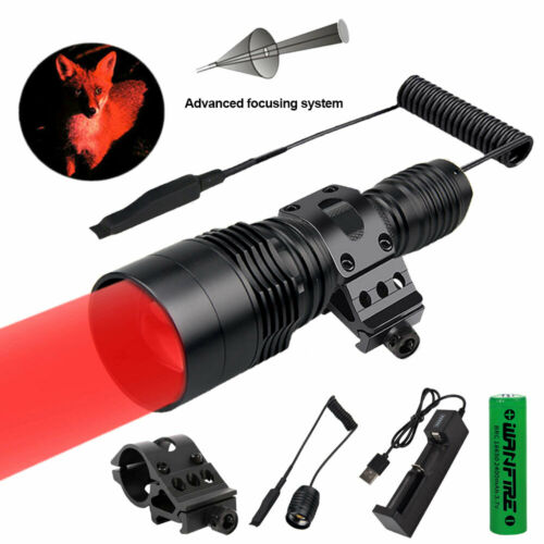 ZOOM Red Led Hunting Light Kit 500yards Coyote Varmint Hog Pig Night Spotlight
