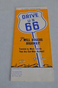 Vintage-Original-1950-039-s-era-Original-Route-66-map-Very-Nice