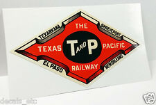 T&P Railway TEXAS PACIFIC Vintage Style DECAL / Vinyl Sticker, Luggage Label