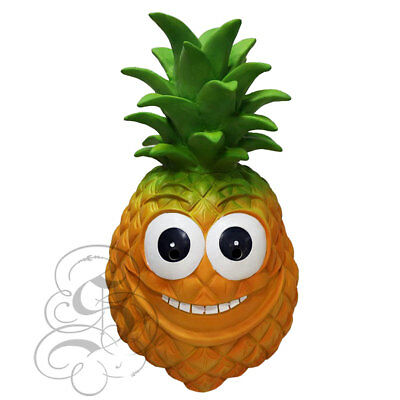 Latex Tropical Fruits Pineapple Funny Happy Face Cosplay Props Fancy Party Mask