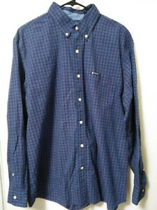 Chaps-Easy-Care-Mens-Size-XL-Blue-Multi-Color-Plaid-Button-Up-Long-Sleeve-Shirt