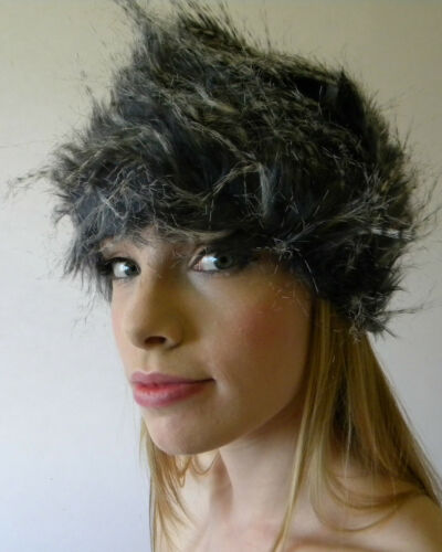 New Ladies Soft Winter Hat Black White Grey Winter Fashion