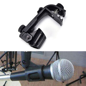 1XPlastic-Adjustable-Clip-On-Drum-Rim-Shock-Mount-Microphone-Mic-Clamp-Holder-ZX