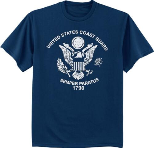 Big and tall t-shirt US Coast Guard decal tee shirt navy blue men/'s tshirt