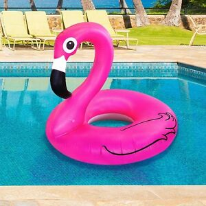 Giant Pink Flamingo Pool Float Inflatable 4 Ft Wide Blow