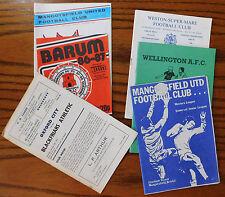 6 vintage football programmes job lot 1980s 1972 Oxford Mangotsfield WSM Barum +