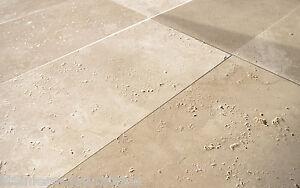 1x Travertin Light gebürstet Muster Platte 20x20x3cm Steinboden ...