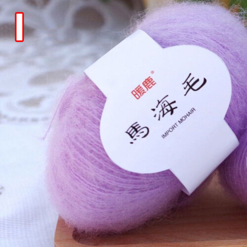 25g//Skein Soft Mohair Knitting Wool Yarn DIY Cashmere Knitting Wool For Sweater