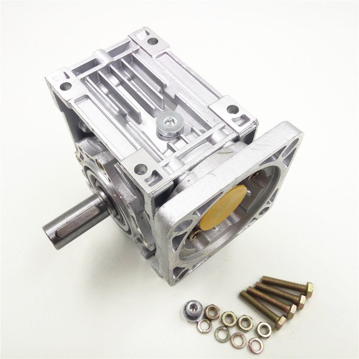 Nema34 Worm Gearbox Geared Speed Reducer 14mm Input Reduction for Stepper Motor 10